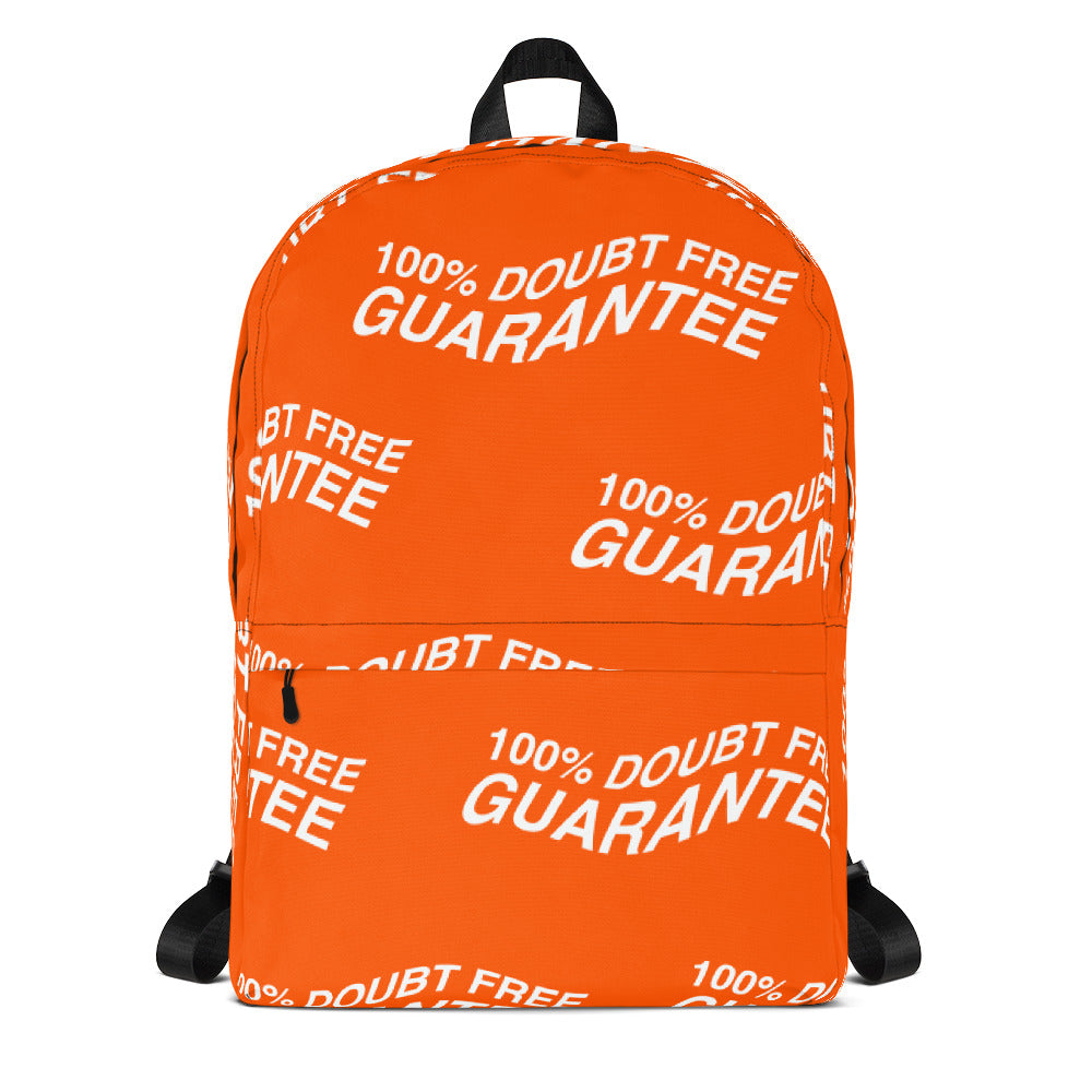 "100% DOUBT FREE Backpack ""Dreamsicle"" Edition - Orange"