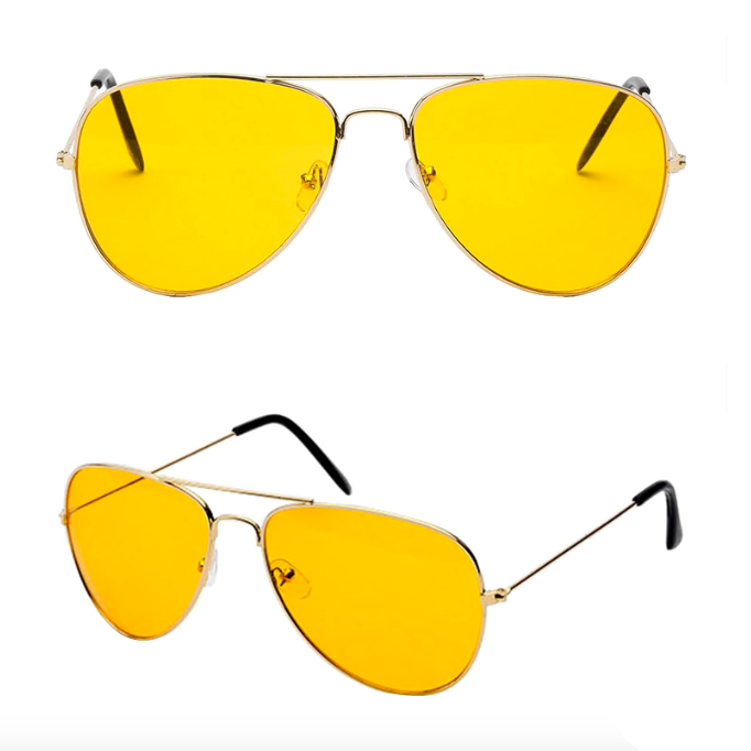 Yellow Aviation Shades - 100% HV Protection (Hater Vision)