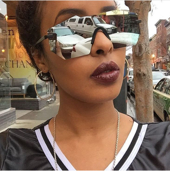 Colorful Rimless Vintage Summer Sunglasses