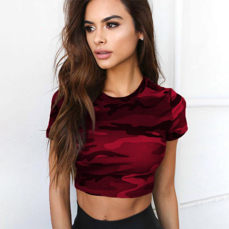 Sexy Camouflage Crop Top