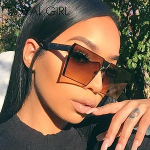ROYAL GIRL 2019 New Color Women Sunglasses Unique Oversize Shield UV400 Gradient Vintage eyeglasses frames for Women #ss953