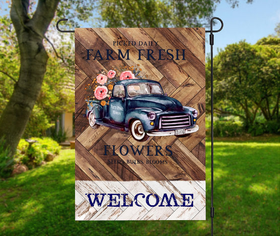 Farm truck welcome  flag