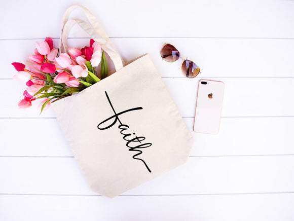 Faith cross tote