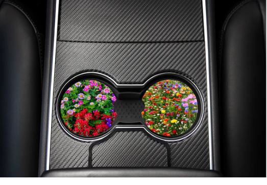 Wild flower car coasters