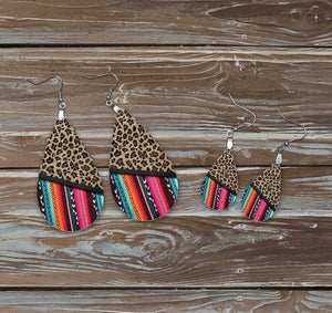 Serape stripe earrings