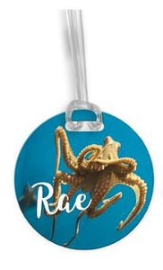 Personalized octopus luggage tag