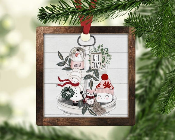 Holiday tray Christmas Ornament