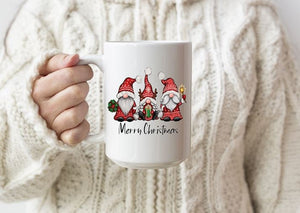 Gnome trio Christmas mug