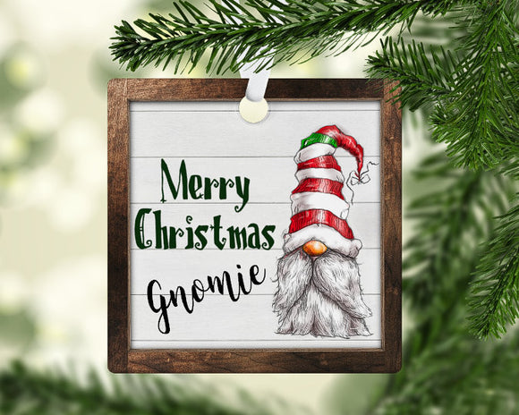 Merry Christmas gnome ornament