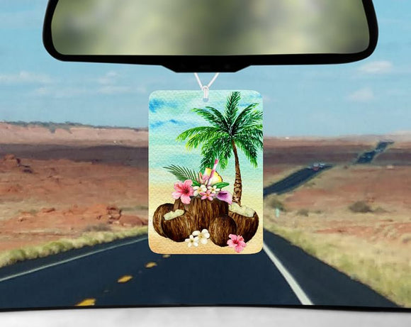 Beach car air freshener