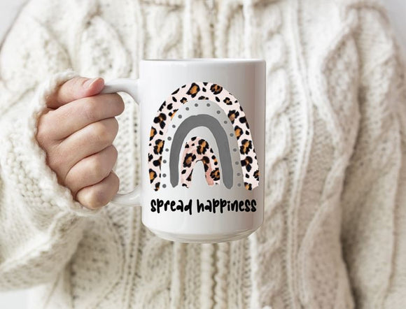 Spread happiness rainbow mug