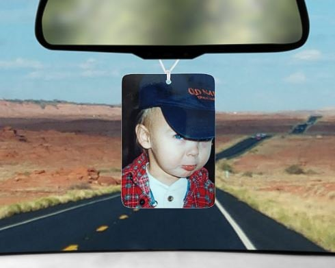 Custom photo car air freshener