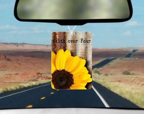 Faith over Fear car air freshener