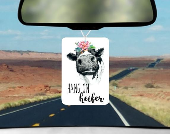 Hang on heifer car air freshener