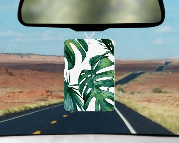 Palm leaf car air freshener