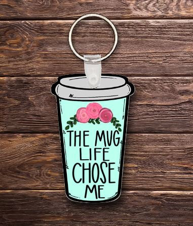 Travel cup coffee key chain