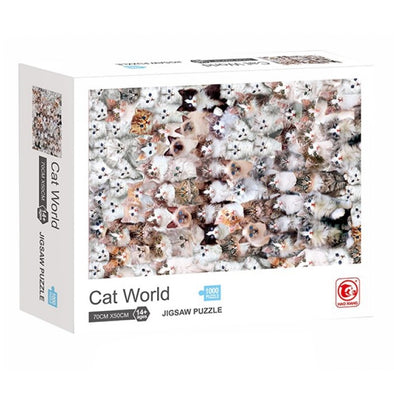 PUZZLE 1000 PIEZAS CAT WORLD 50X70 CM +7