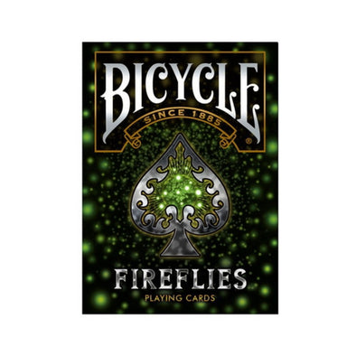 NAIPE BICYCLE FIREFLIES LUCIÉRNAGA VERDE BRILLANTE