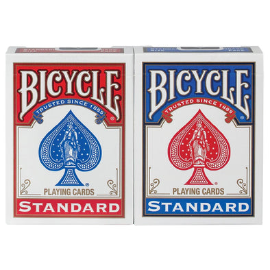 SET 2 NAIPES BICYCLE STANDARD POKER MAGIA