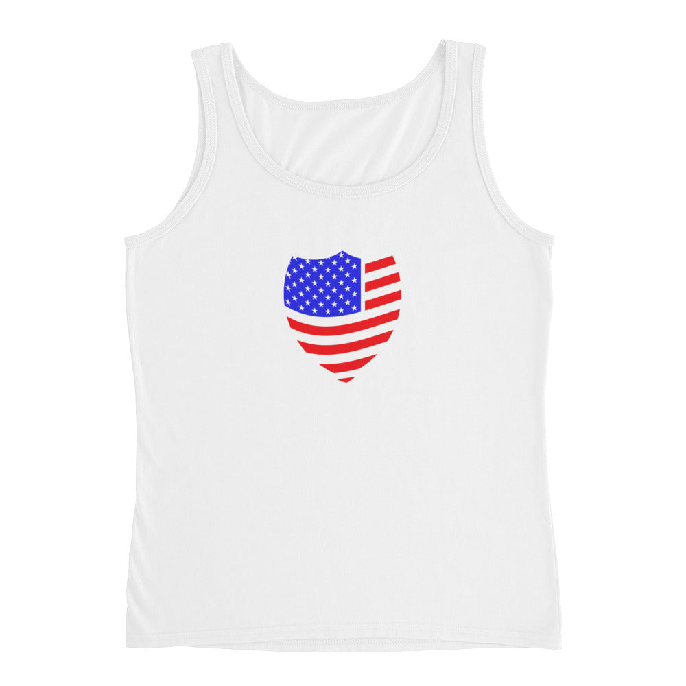 Civilian Patriot black logo Ladies' Tank