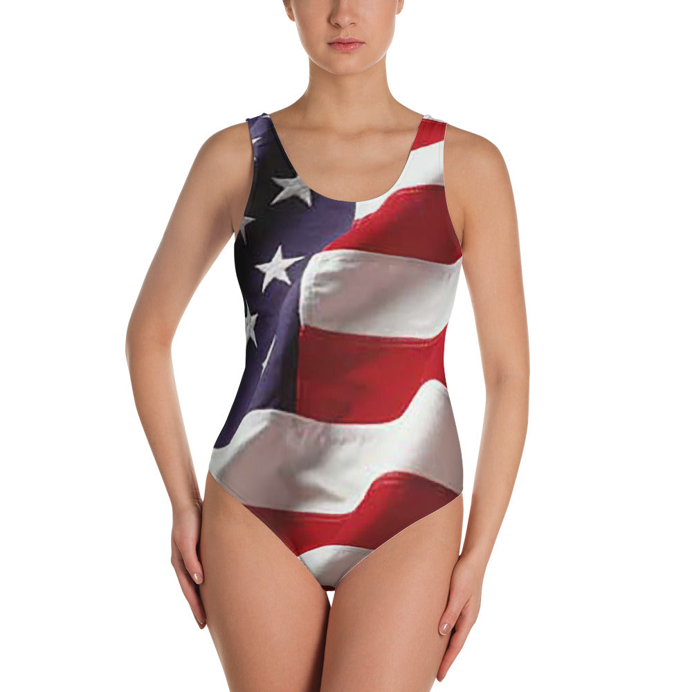American flag One-Piece Swimsuit
