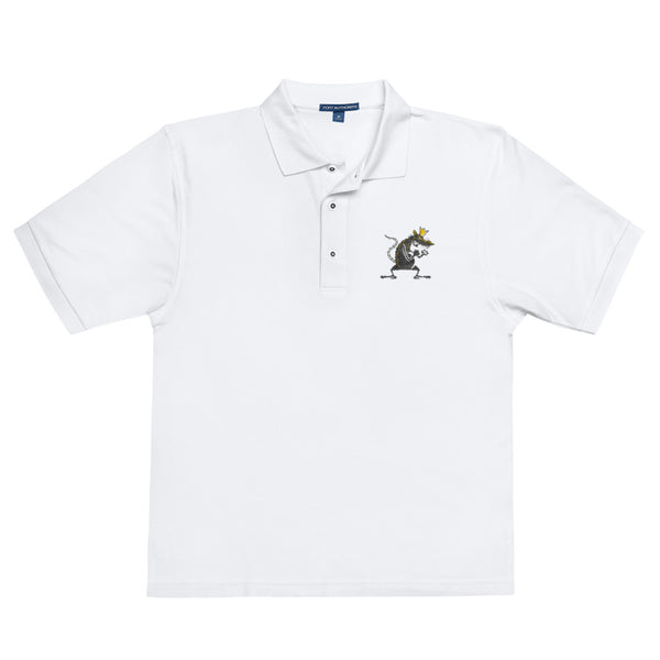 The Rat King Embroidered Polo Shirt - King and The Sting