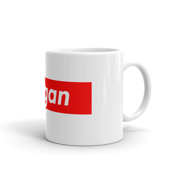 "Joe Rogan ""Rogan Box Logo"" White Mug"