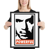 "Joe Powerful Rogan ""Obey"" Framed poster"