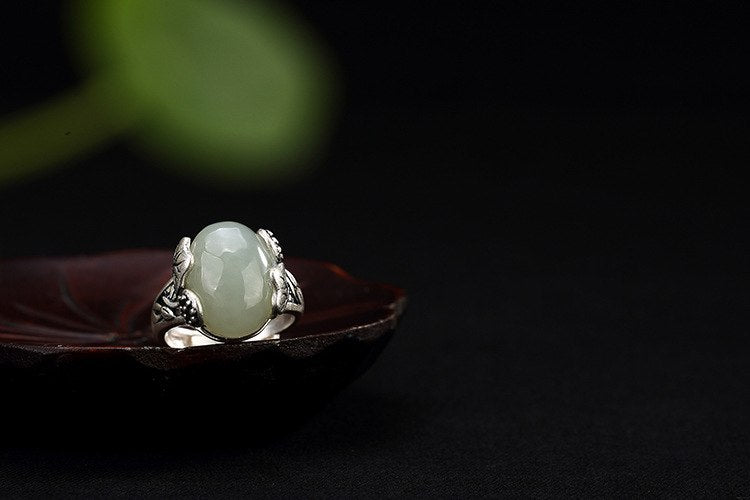 Silver and White Jade