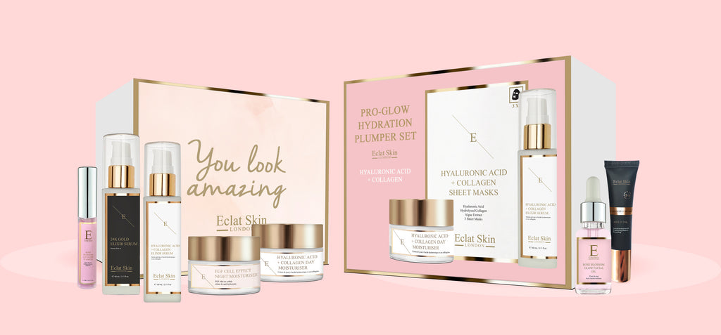 Christmas Skincare Giftsets Pink Hyaluronic Acid Collagen