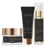 24K Gold Anti-Wrinkle Moisturiser + 24k Gold Elixir Serum +Charcoal Face mask