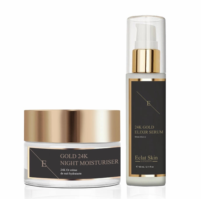 Anti-Wrinkle Elixir Serum 24K Gold + Anti-Wrinkle Moisturiser 24K Gold Duo