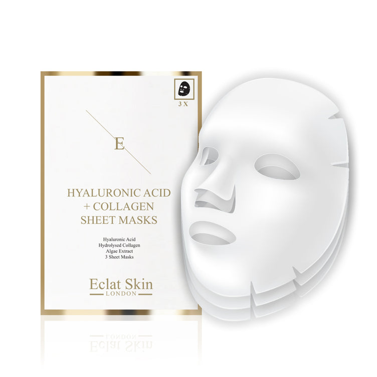 Hyaluronic Acid & Collagen Sheet Masks