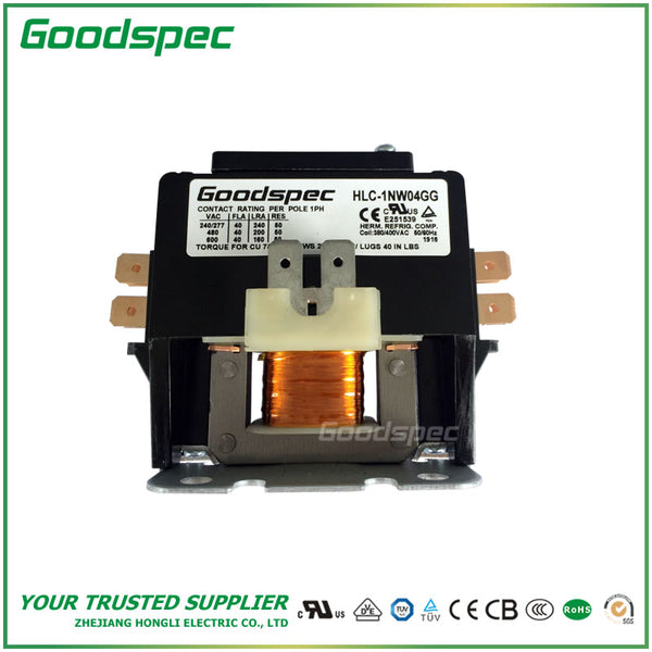 HLC-1NW04GG(1P/40A/380-400VAC) DEFINITE PURPOSE CONTACTOR