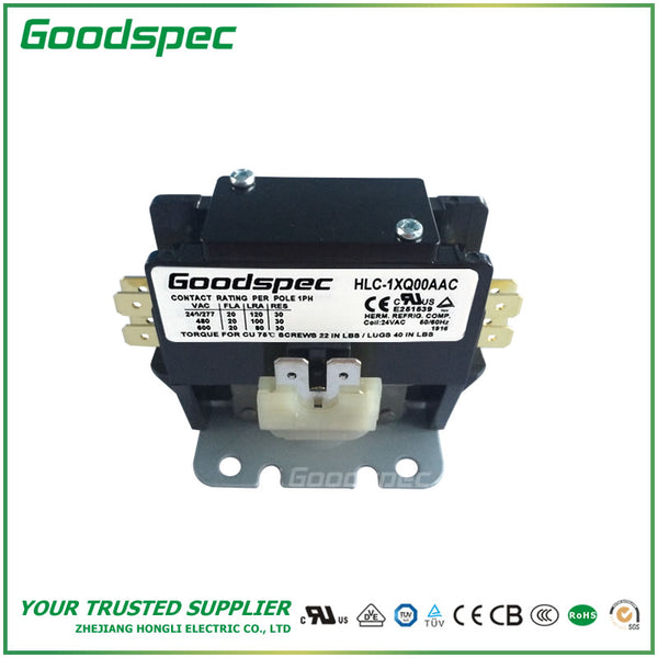 HLC-1XQ00AAC(1P/20A/24VAC) DEFINITE PURPOSE CONTACTOR