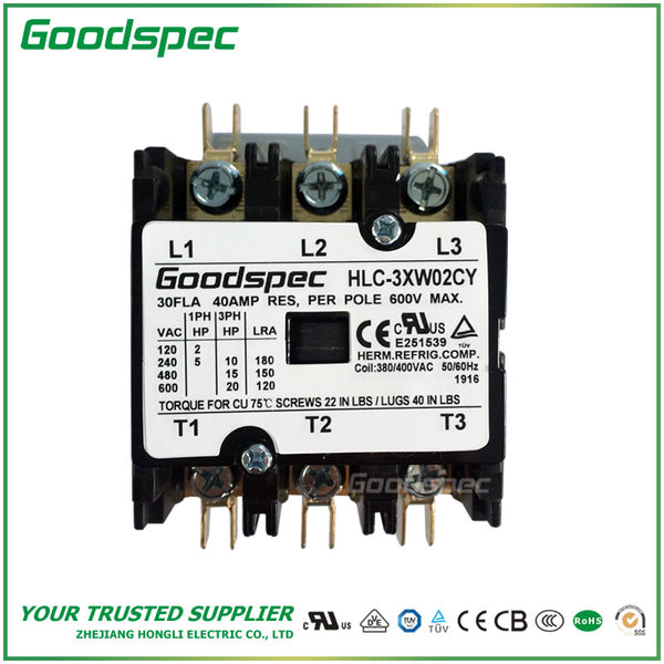 HLC-3XW02CY(3P/30A/380-400VAC)DEFINITE PURPOSE CONTACTOR