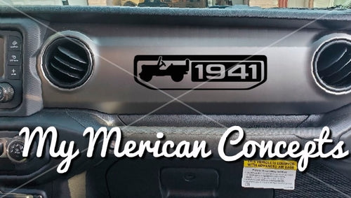 1941 Jeep Dash decal