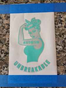 Unbreakable Autism Mom Decal!
