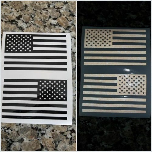 American Flag Decal sets in reflective!