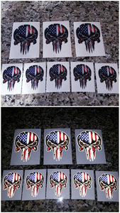 American Flag punisher skull decal!
