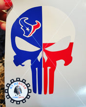 Load image into Gallery viewer, Texans Punisher Skull Decal