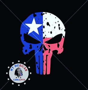 Punisher Skull- Texas Flag Edition!