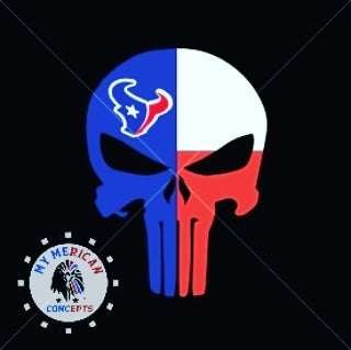 Texans Punisher Skull Decal
