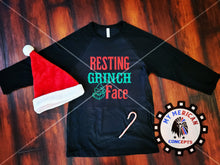 Load image into Gallery viewer, Resting Grinch Face long-Sleeve Unisex Shirt!