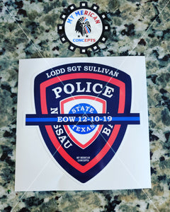 SGT Sullivan Decal!