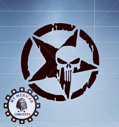Punisher Skull Reflective Decal- Texas Edition