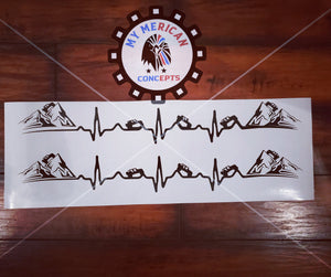 My Heart Beats Jeep- Decal Set!