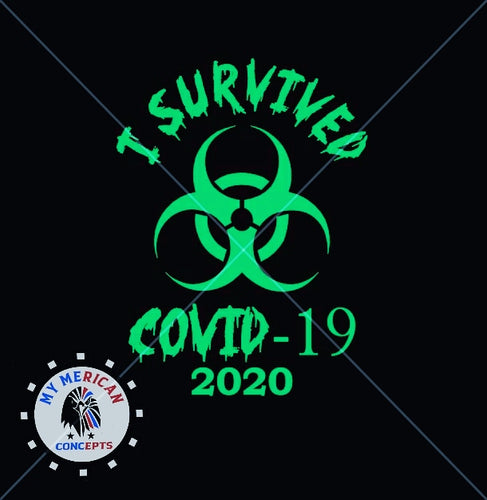I Survived Covid-19 Decal- Hazard Edition