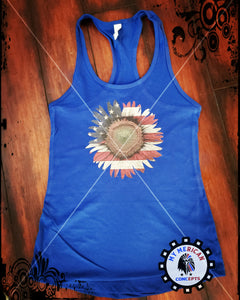 Patriotic Sunflower Tank!