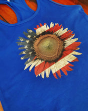 Load image into Gallery viewer, Patriotic Sunflower Tank!